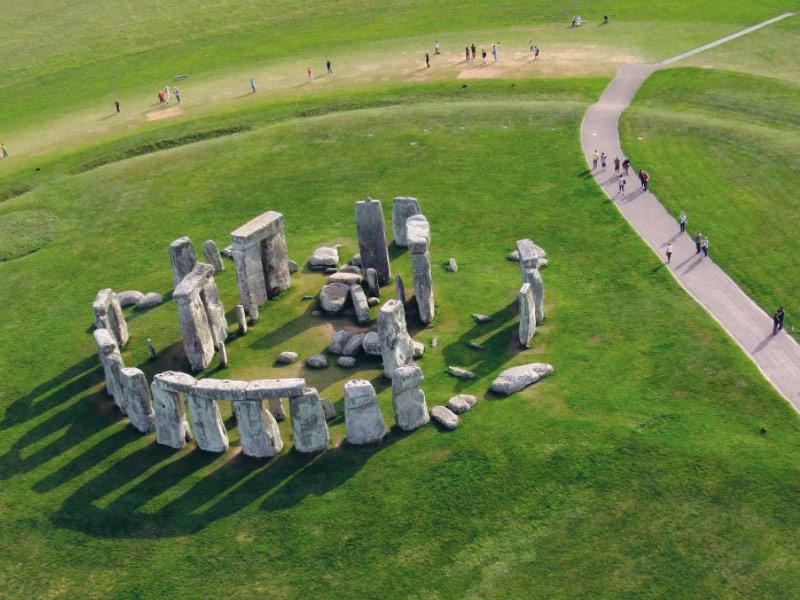 Stonehenge, Inglaterra. Vista áerea