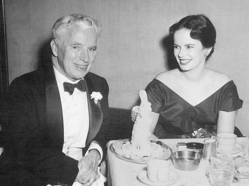 Charles Chaplin y su esposa